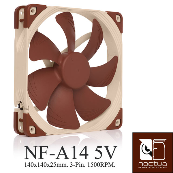 Noctua NF-A14 5V SSO2 stable magnetic bearing AAO Mute the fan -5V version