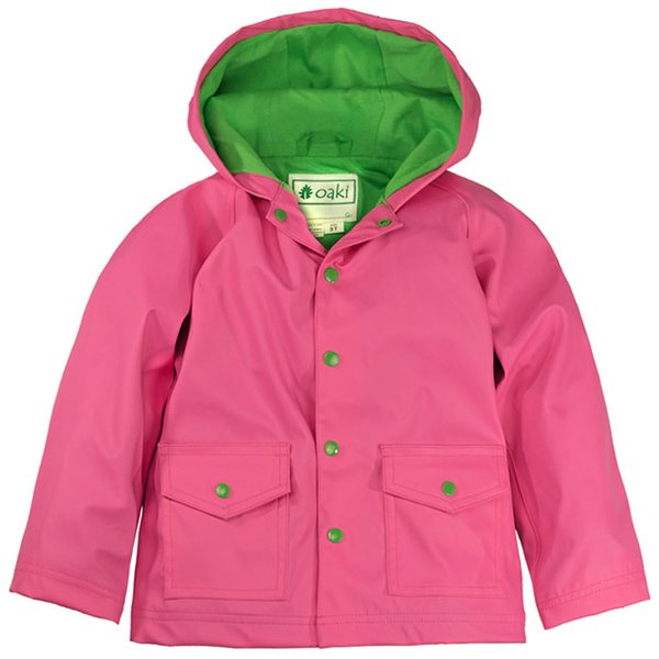 US OAKI Children waterproof jacket / raincoat 65080 light green with the wind