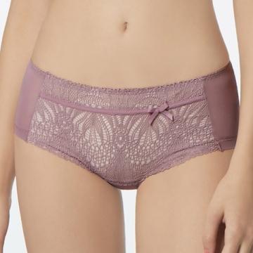Mandai Ma Lian Hibra large wave Seamless underwear low-cut flat (Campanulaceae purple)