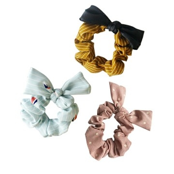 Korean version of the small fresh fabric bow hair bundle / hair ring