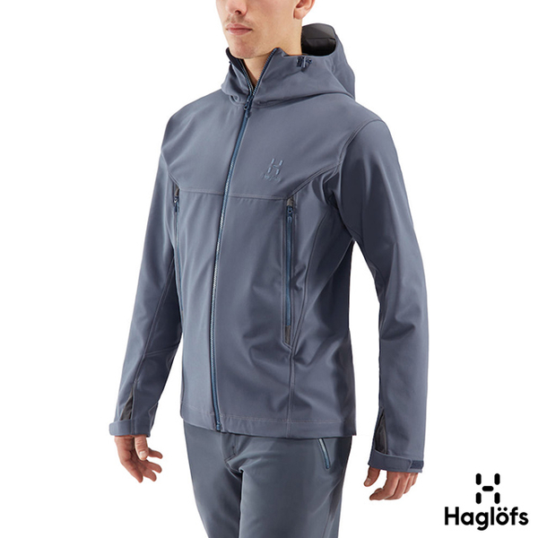 (Haglofs)Haglofs Male Tokay Water and Stain Resistance Soft Shell Jacket Thick Blue