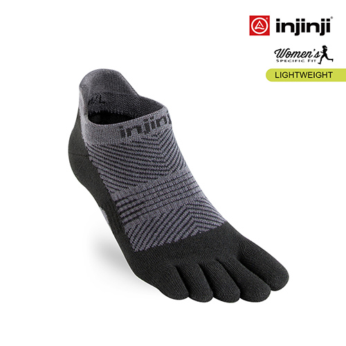 (injinji)[INJINJI] RUN women's lightweight five-toed stealth socks [black] five-toed socks