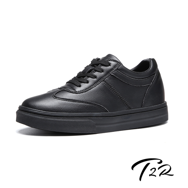 [South Korea] T2R air - full leather - increased 7 cm comfort strap casual shoes inside invisible - all black (5985-1926)
