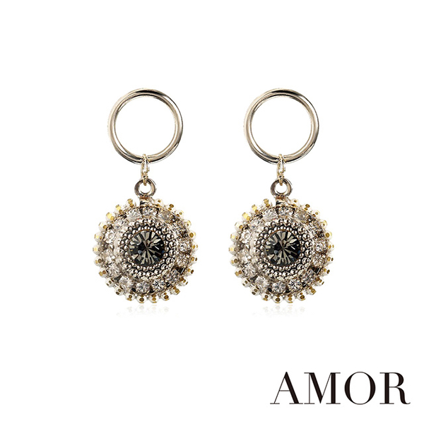 (AMOR)Quenby [AMOR] Baroque Vintage Retro Earrings - Short
