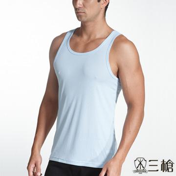 [Brand] fashion classic three shots E wicking cotton rib vest male narrow shoulders - two groups