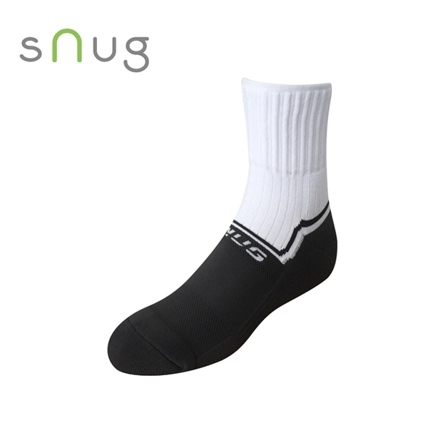 Kinetic energy of the air cushion sports socks - White Black