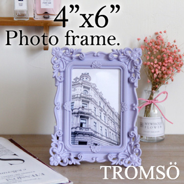 (TROMSO)TROMSO Royal Baroque 4x6 Photo Frame-Carved Purple