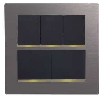 Moonlight five series switch cover plate bivalent group - Modern gray