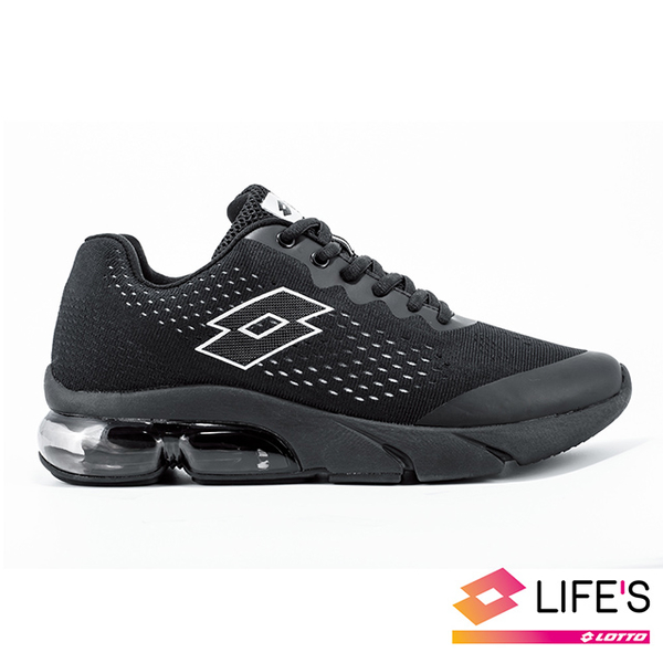(lotto)[LOTTO Italy] Men's Meteor Meteor Knit Air Cushion Running Shoes (Black)
