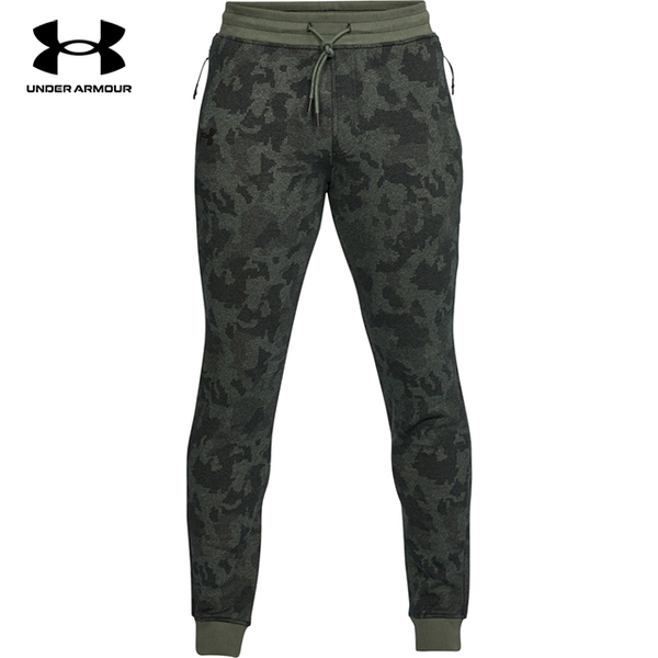 (under armour)[UNDER ARMOUR] UA Male Microthread Fleece Patterned Stacked Joggers (Green)