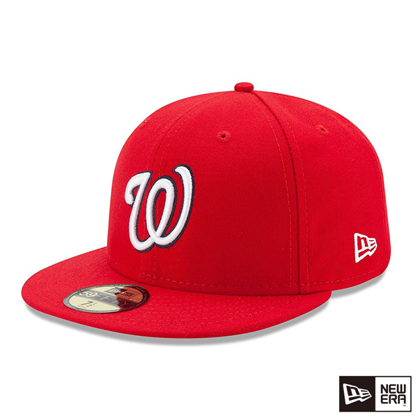 NEW ERA 59FIFTY 5950 MLB players away red cap nationals _