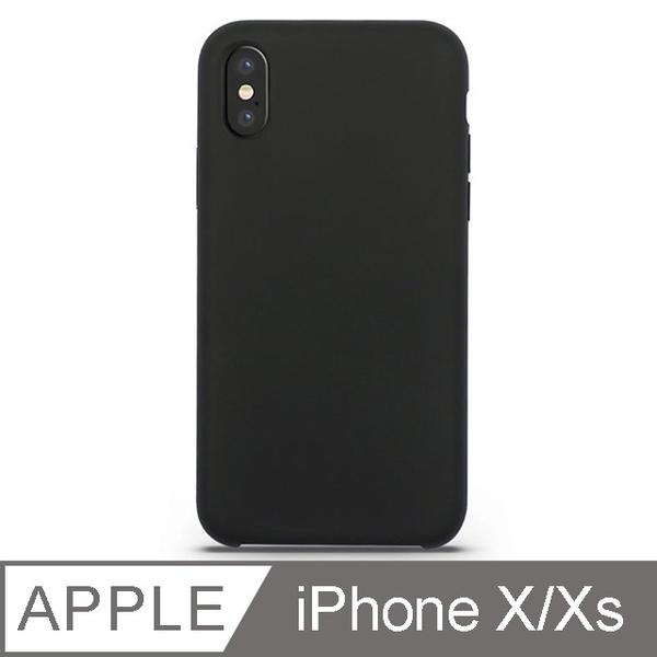 (TOYSELECT)[TOYSELECT] liquid silicone anti-impact mobile phone case: carbon black iPhone X/Xs