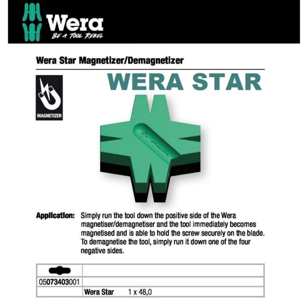 Germany Wera Star - increased degausser WERA STAR