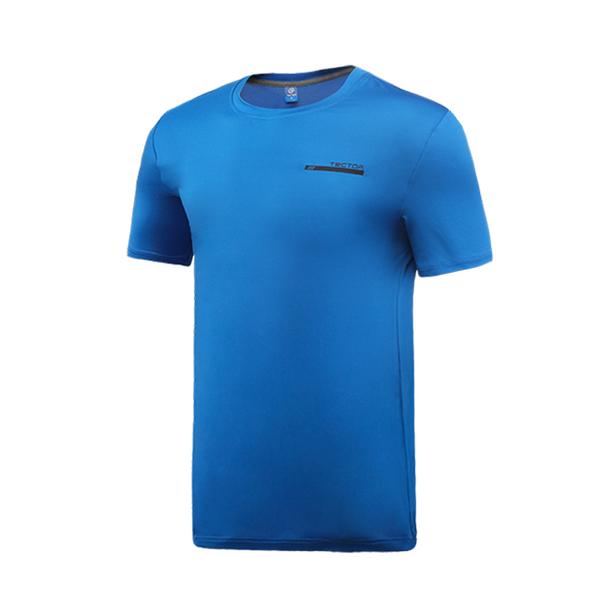 Tectop outdoor exploration extension 81245 men elastic short-sleeved T-shirt blue [color]
