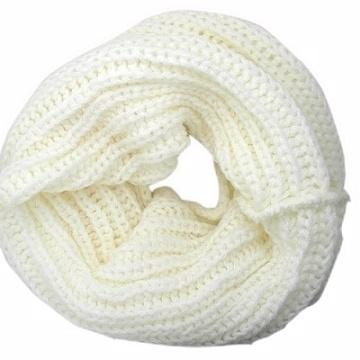 Charme Korean version of the new design plain warm high collar small collar (white)