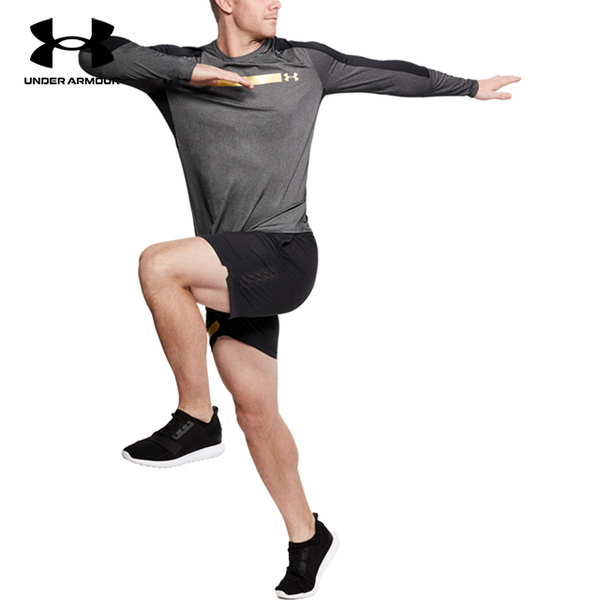 (under armour)[UNDER ARMOUR] UA Men's Perpetual Fitted Long Sleeve Sweatshirt (Gray)