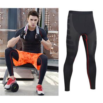 กีฬาและการออกกำลังกายชายกางเกงอบแห้งอย่างรวดเร็วยืดเลข -L