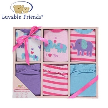 Luvable Friends newborn gift boxes (small elephant models - Nubao) six-pack