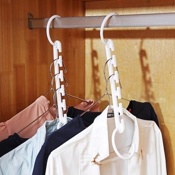 Magic wind hanger hanger finishing storage racks