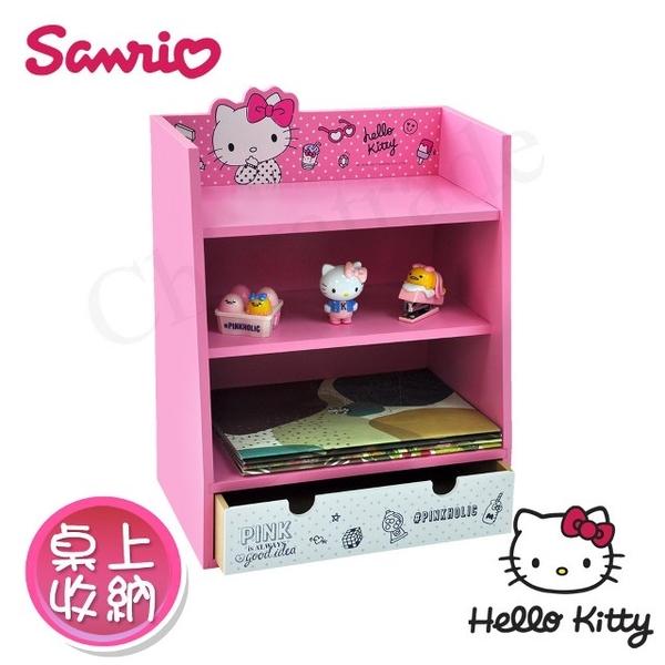 [Hello Kitty] Pinkholic Hello Kitty Beauty Desk Organizer stationery storage cabinet storage jewelry storage (genuine authority in Taiwan)