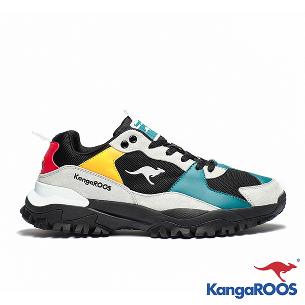 [M] KANGAROOS father JOGGER cross-country shoes (black and blue)