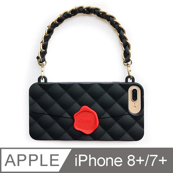 (candies)[Candies] Dinner Bag (Black)-iPhone 7.8 Plus