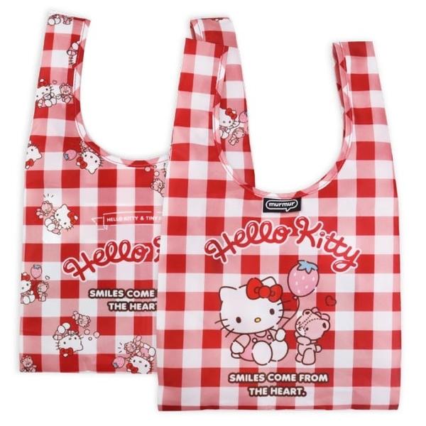 (Murmur)Murmur lunch bag / hello kitty red and white plaid pattern BDB56