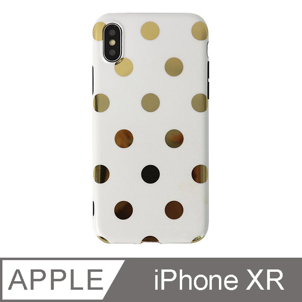 (TOYSELECT)[TOYSELECT] texture coffee gold dot mobile phone shell iPhone XR