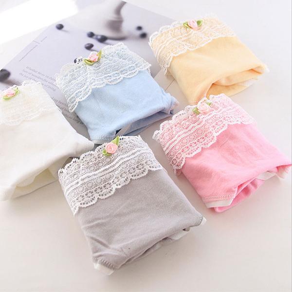 (Secret Lover)(Multicolor) [Secret Lover] Rose Flower Lace Little Lady Mid-Low Waist Panties SL103