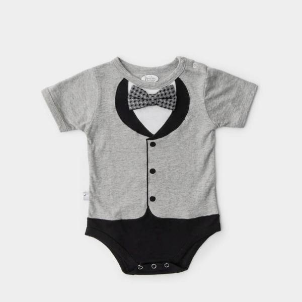 (Frenchie MC)American Frenchie MC Baby Boy Jumpsuit - Beckham (Short Sleeve)