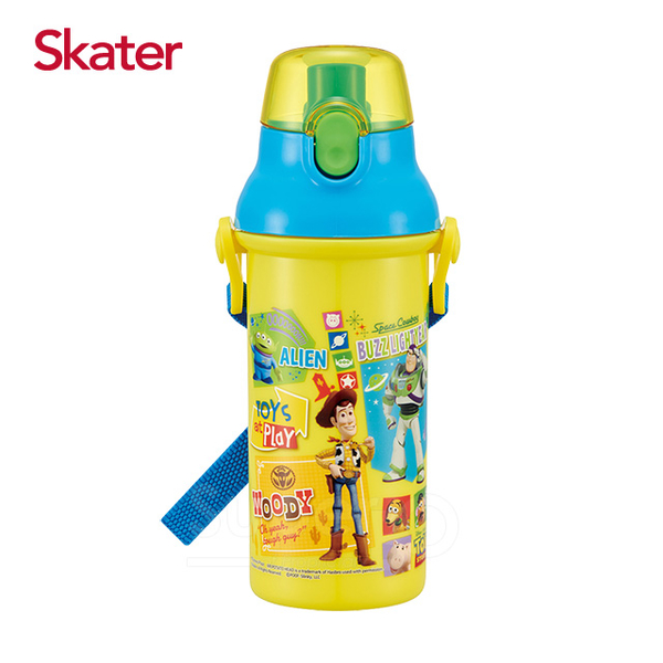 Skater straight drink cold water bottle (480ml) Toy Story - yellow