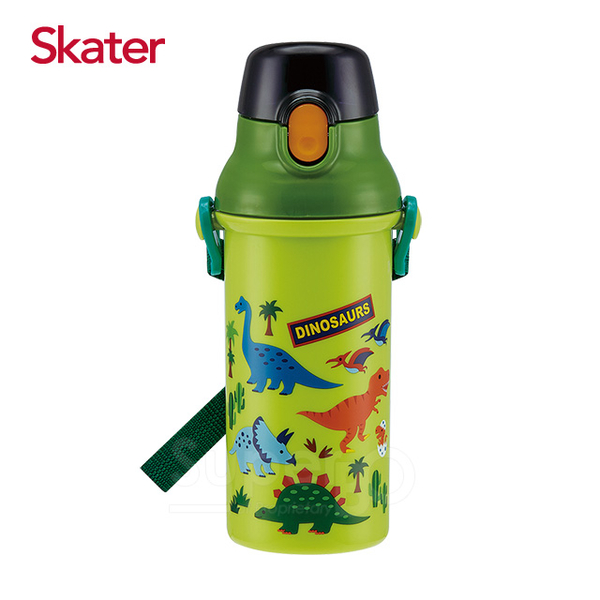 Skater straight drink cold water bottles (480 ml of) dinosaurs