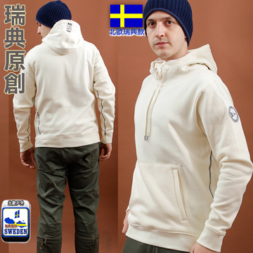 [Nordic - Outdoor Fun] Sweden paragraph pound male Hooded thick warm polar jacket (LA4401 gray)