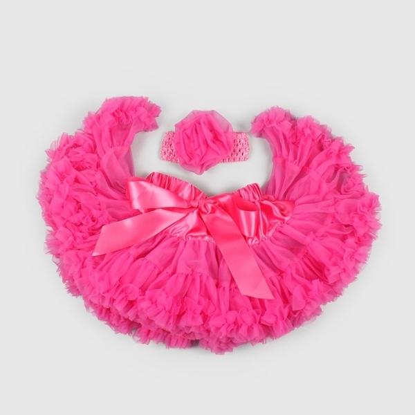(La Chamade)Good Day Baby Girl Chiffon Tutu - Barbie