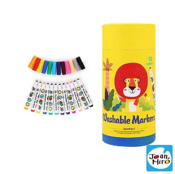 (joanmiro)[Spain JoanMiro original beauty play] toddler round head washable color pen (12 colors) JM09463