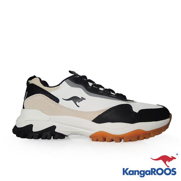 [M] NEON KANGAROOS cross country Daddy shoes (white / black / khaki)