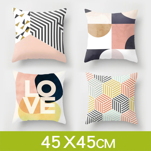 (Wood)[LaVie. Wood] Tata ☆ Simple Nordic style [Modern Geometry] Cushion cover cushion (excluding pillow core / 45 * 45cm)