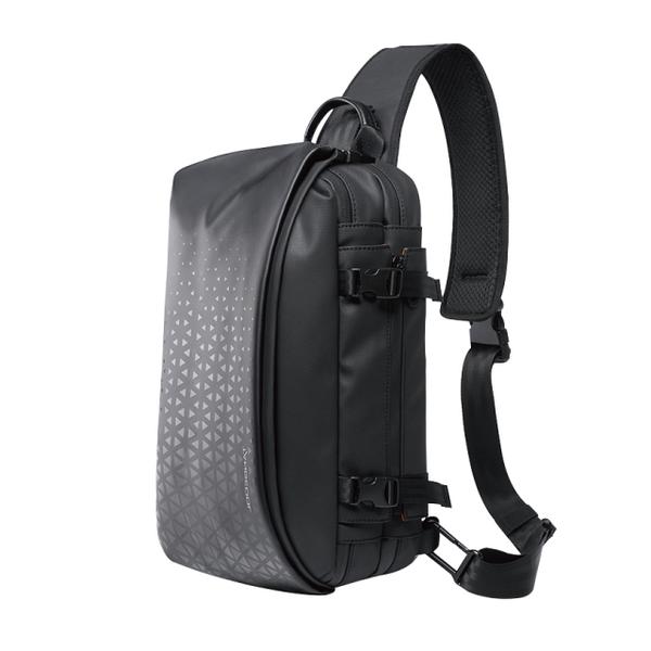 Stylish multifunctional slant side backpack