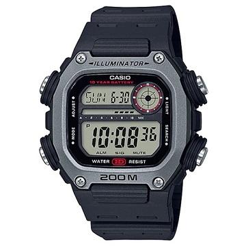 (casio)[CASIO] Sports Tough Guy Square Electronic Sports Watch-Silver Grey (DW-291H-1A)