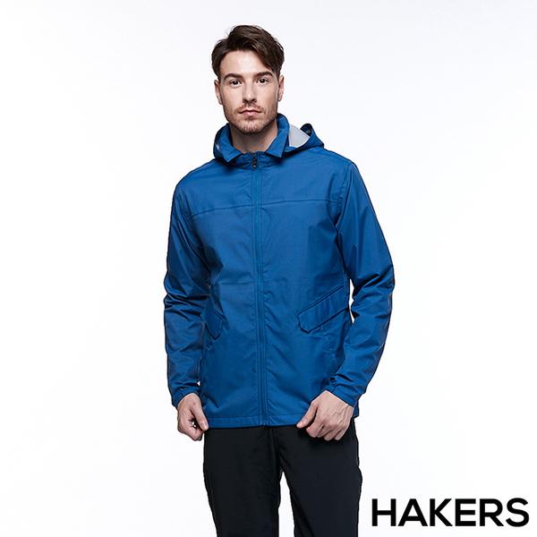 [] HAKERS Hake Shi Men 3L waterproof breathable jacket (gray-blue)
