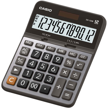 CASIO 12-digit dollar commercial computer - smudge DX-120B