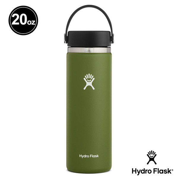 (hydroflask)Hydro Flask Wide Mist 20oz / 591ml Stainless Steel Thermos Bottle Olive Green