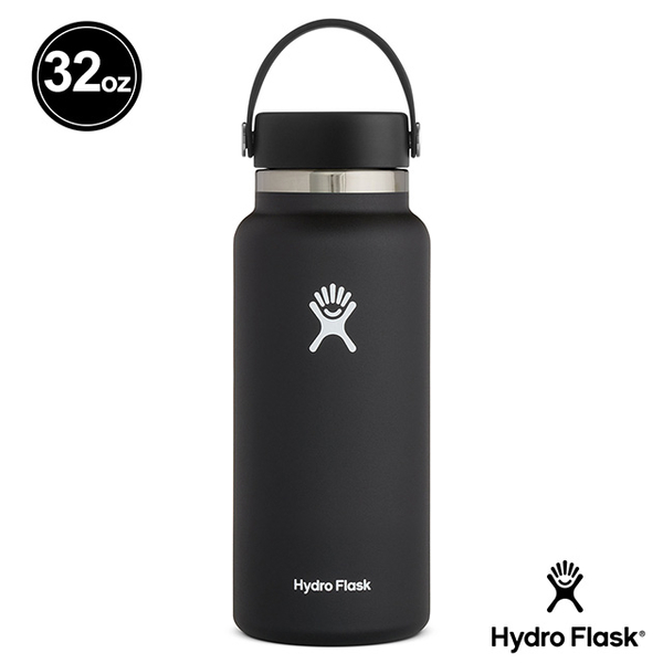 (hydroflask)Hydro Flask Wide Mist 32oz / 946ml Stainless Steel Cooling Thermos Fashion Black
