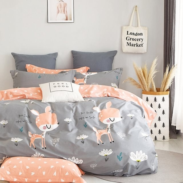 (Ania Casa)Ania Casa 100% Cotton Made in Taiwan-Three-Piece Pillowcase-Cute Deer