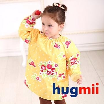 (Hugmii)[Hugmii] childlike painting flower shape long-sleeved clothing _ yellow