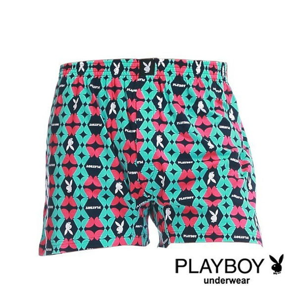 [PLAYBOY] counter money printing buck comfortable cardigan boxers - single piece (peach sectional round)