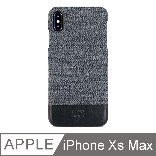 Alto iPhone Xs Max 6.5 inch leather phone case back cover Denim - Gray Wolf
