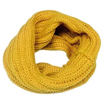 Charme Korean version of the new design plain warm high collar small collar (yellow)