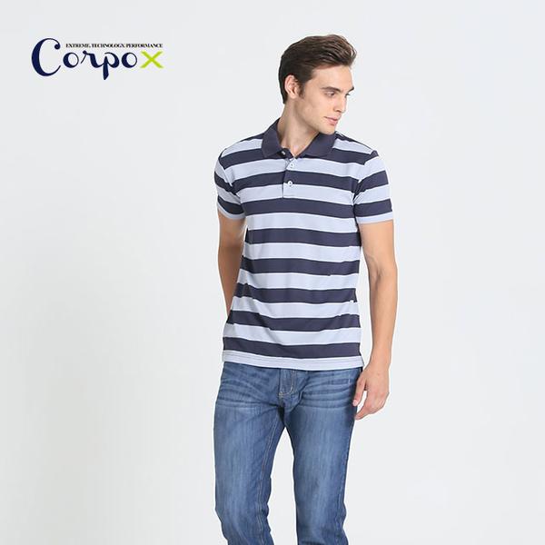 [Corpo X] permanent bacteriostatic POLO shirt male models (deodorant) - Gray