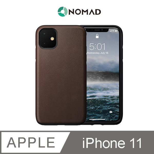 (NOMAD)American NOMAD Classic Leather Drop Protector - iPhone11 Brown